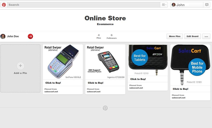 Example Pinterest Store